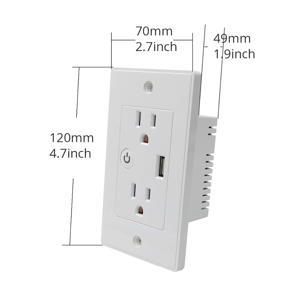 WiFi-US-In-Wall-Outlet-Work-With-Alexa-Google-Home-Mini-Assistant-With-2-Outlet