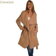 Chamsgend Новинка 2017 года модные женские туфли зимние пальто с капюшоном длинный плащ ветровка верхняя одежда Прямая поставка 170912