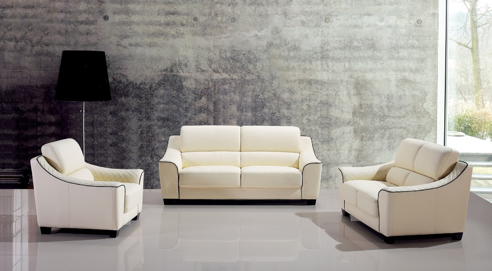 Popular modern design leather sofa buy cheap modern design for Latest sofa for drawing room