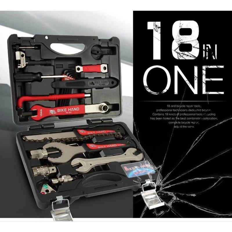 Kit d'outils de réparation de vélo vtt outils de vélo de course multifonctionnels ensemble de dissolvant de volant moteur prise de pédalier outil d'extracteur de manivelle