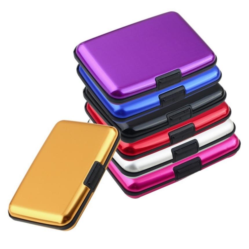 2018 Anti-RFID Scanning Protect Card Holder Aluminum Metal Blocking ID Credit Card Case Wallet Credit Card Popular #C