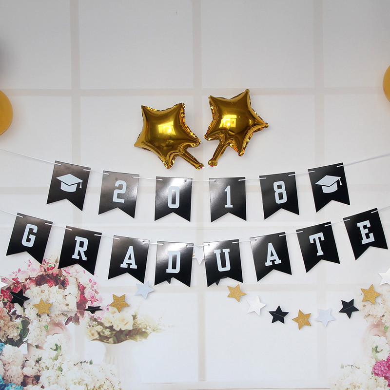 2018 Graduation Party Decoration Banner Balloon Party