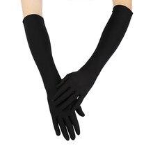 Glove Women Black White Glove Sexy Party Gloves 22' Long Bla