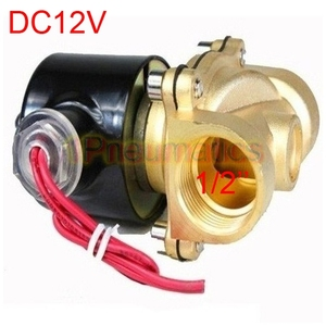 """Image 2 - Free Shipping 2017 New Brass 12V DC 1/2"""" Electric Solenoid Valve Water Air Fuels Gas Normal Closed (SMALL)"""