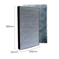 For Sharp Air Purifier KC Y180SW FU Y180SW KC GD10 W FU GD10 W Dust Collection Heap Filter Activated Carbon Cotton Filter Set