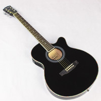 Guitar Acoustic Electric Steel String Balladry Folk Pop Thin Body Flattop 40 Inch Guitarra 6 String