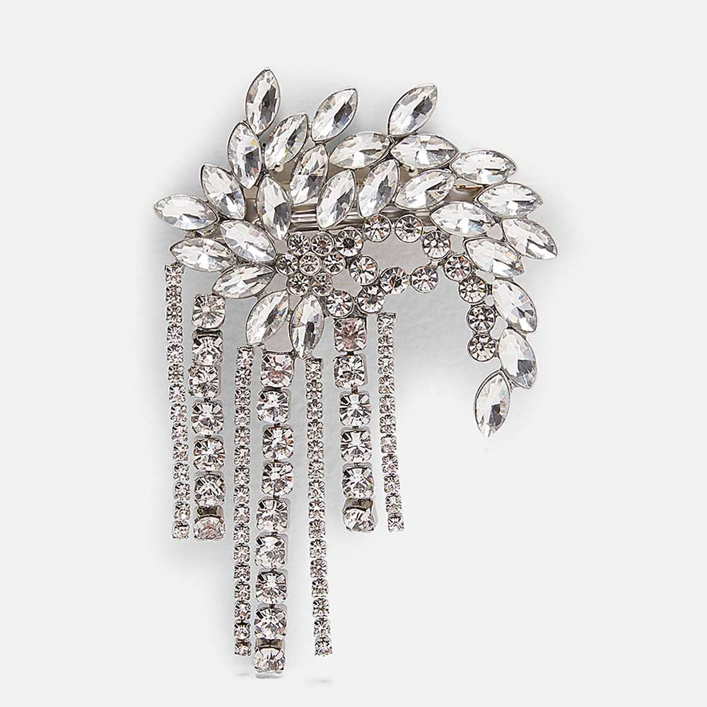 Dvacaman ZA Luxury Indian Bridal Wedding Hair Jewelry Accessories Crystal Beads Fringed Hair Clip Pins Bobby Women Girl Barrette
