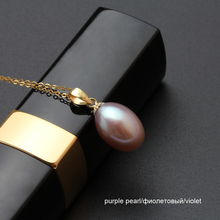 18K Gold Pendant With Freshwater Drop Pearl Necklace