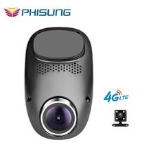 Phisung T1 4 г dashcam Android GPS ADAS тире камеры двойной объектив Камара automovil ночного видения авто камеры Мини Скрытая Автомобильный видеорегистратор Wi-Fi