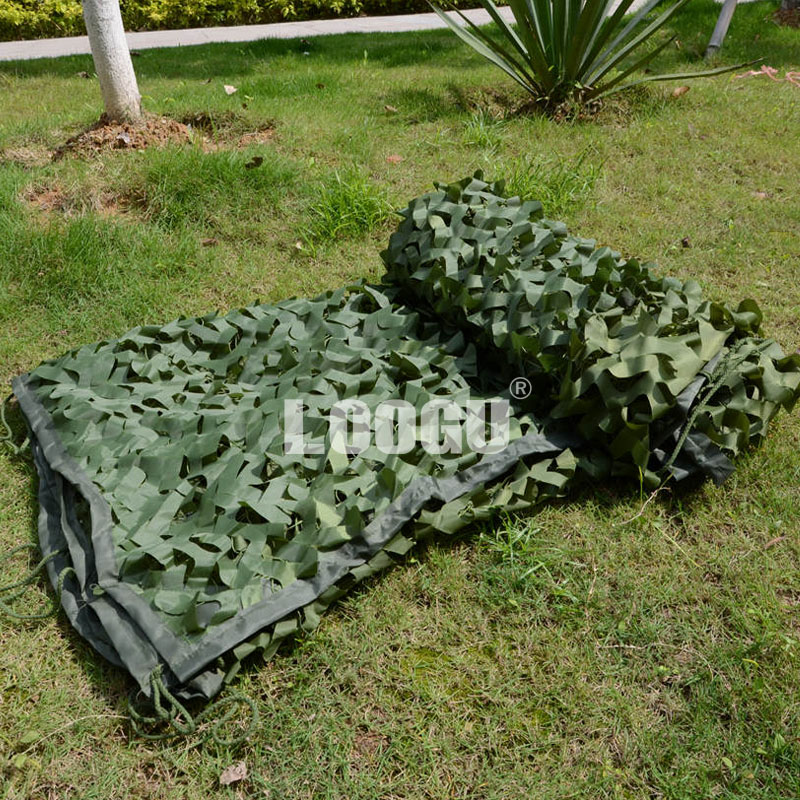 LOOGU EM 2M x 6M Pure Green Military Camouflage Net Army Military Camo Net Hunting Blinds for outdoor loogu 9m x 10m 29 5ft x 33ft sea blue