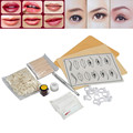 Microblading Eyebrow Lip Tattoo ink Manual Pen Practice Skin Needles Kit  g61111