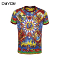 Summer Tops Men's Modal Soft Abstract Print Popular Casual Male Tee Short Sleeve!Free Shipping