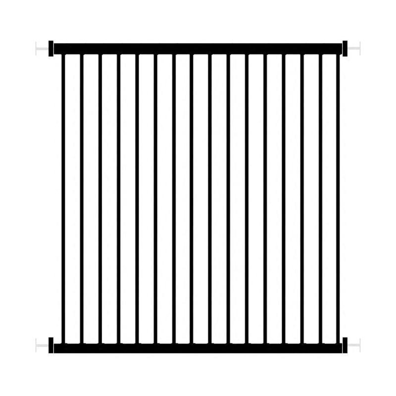 53 64cm Window Guardrail free installation Perforation Free Children Window Security Fence window safety iron black