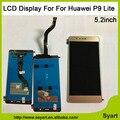 Venda quente a ordem Da Mistura Cor P9 5.2 inch LITE Display LCD x digitador da tela de toque do painel de vidro sem moldura para huawei p9 lite lcd