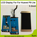 Venta caliente para La mezcla de Color de 5.2 pulgadas P9 LITE Pantalla LCD x pantalla táctil digitalizador panel de cristal sin marco para huawei p9 lite lcd