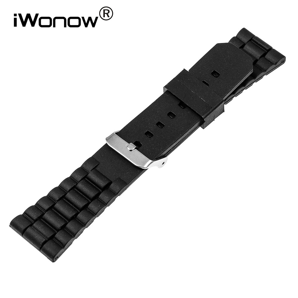 Silicone Rubber Watch Band 22mm for Samsung Gear S3 Classic / Frontier Stainless Steel Pin Buckle Strap Wrist Belt Bracelet+Tool silicone rubber watch band 15mm 16mm 17mm 18mm 19mm 20mm 21mm 22mm for mido stainless steel pin buckle strap wrist belt bracelet