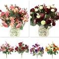 1 Букет 21 Глава Искусственный Роуз Красочные Шелковые Цветы Способны Поддельные Цветы Для Красоты Главная Свадьбу Декор