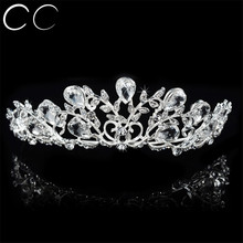 High Quality Shiny Top Austrian Crystal Tiaras Crowns for Women Wedding Engagement Party Fashion Jewelry Hair Accessories F052
