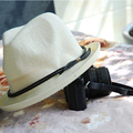 La alta calidad del sombrero mujeres Summer Sun sombreros para hombre Unisex Color sólido 57 cm tamaño trenza decorado moda accesorios 2016031102 u3