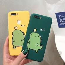 RKQ Funny Cute Yellow Green Dinosaur Soft Silicone Phone Case Cover For Iphone 6 6S 7 8 Plus X XS XR Max TPU