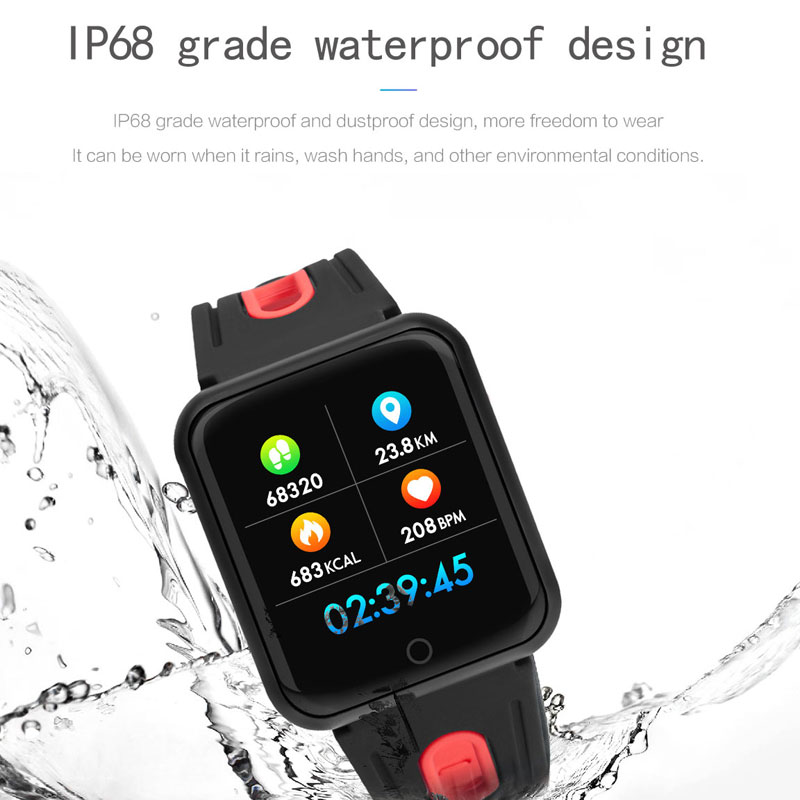 P68 Smart watch IP67 Waterproof Fitness Tracker Heart Rate Monitor Blood Pressure Women men Clock Smartwatch For Android IOS 2