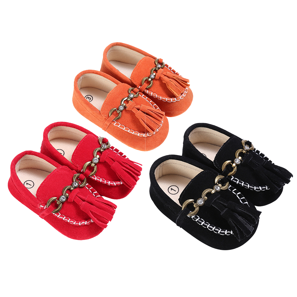 Newborn Baby Boy Girl Baby Moccasins Soft Moccs Shoes Baby Fringe Soft Sole Non-slip Footwear Crib Shoes