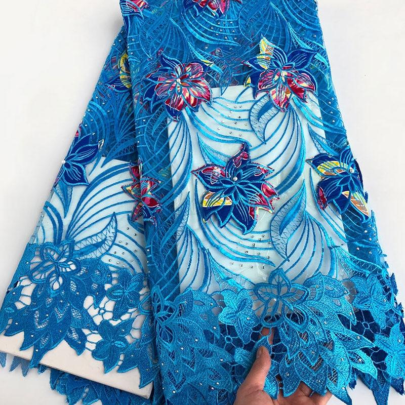 5 야드 정품 왁스 자수 아프리카 프랑스어 레이스 패브릭 믹스 guipure 레이스 가장자리 나이지리아 가나 축하 buba 봉제 드레스-에서레이스부터 홈 & 가든 의  그룹 1