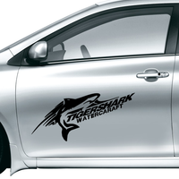 Tiger Shark Waterproof Reflective Decal Car Sticker Vinyl Car Decoration Home Decor Easy To Apply Removable