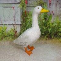 Большой Творческий моделирование белая утка игрушка полиэтилена и меха Duck Модель Кукла подарок около 55x45x20 см 1911