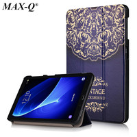 For Samsung Galaxy Tab A 10 1 T585N T580N Tablet Funda Cases Color Painted PU Leather