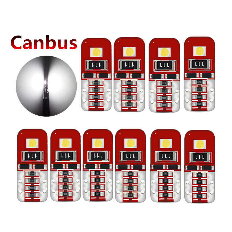 10pcs T10 W5W Canbus Led Light Bulbs No Error for Renault Clio Megane 2 3 Scenic2 Duster Capture Logan Kadjar Fluence Laguna2