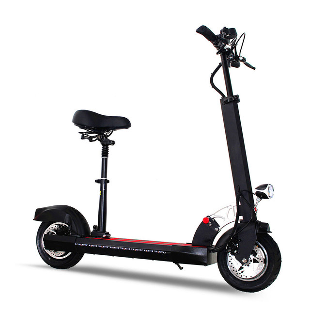 Electric Scooter 2 Seat Foldable 21 Ah High Autonomy Battery