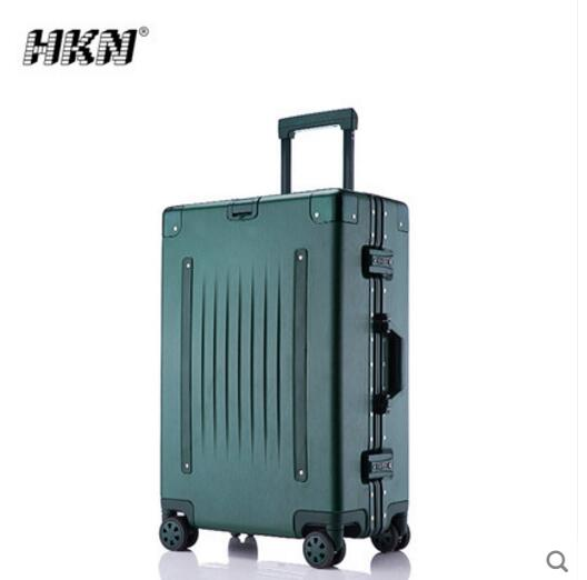 Luggage box, pull rod box, universal wheel, aluminum frame, antique travel box new design professional universal wheel rod makeup box men and women pull rod