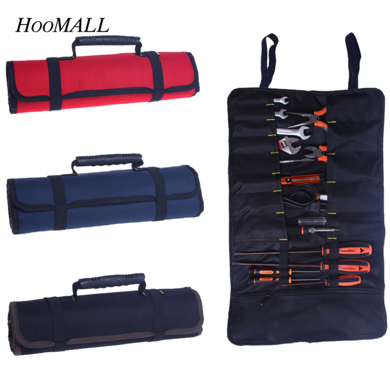 Hoomall Multifunction Tool Bag Practical Carrying Handles Oxford Canvas Chisel Roll Bags For Tool 3 Colors New instrument Case