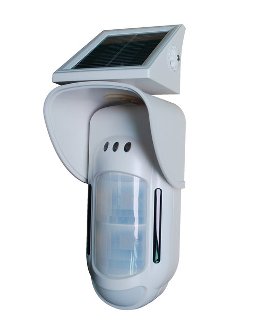 Focus FT-89RS Wireless Solor Power Dual Infrared & MW Outdoor PIR Motion Detector Animal Friendly