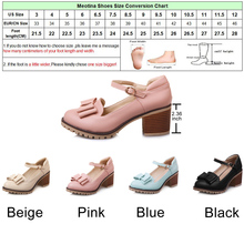 Meotina Women Pumps Lolita Shoes Platform High Heels Pink Mary Jane Shoes Bow Block Heel Ladies Party Shoes Large Size 33-43