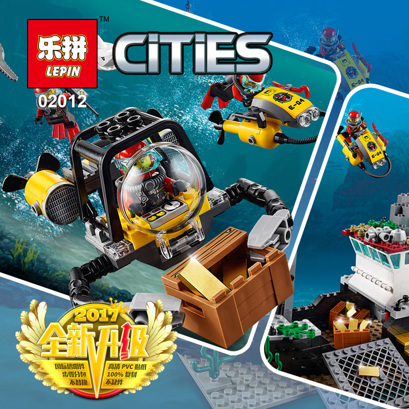 Lepin 02012 774Pcs Genuine The Deep Sea Exploration Ship Set City Series LegoINGlys 60095 model Building Blocks Bricks Toys Gift цена