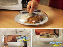 Hover Magnetic Microwave Splatter Shield Lid Food Cover