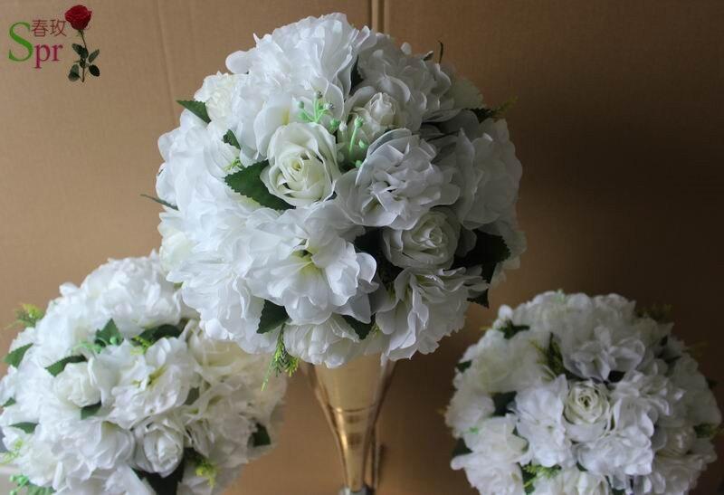 NEW! 무료 배송! 10pcs / lot 결혼식 도로 리드 인공 꽃 공 결혼식 테이블 꽃 꽃 장식 중앙 장식