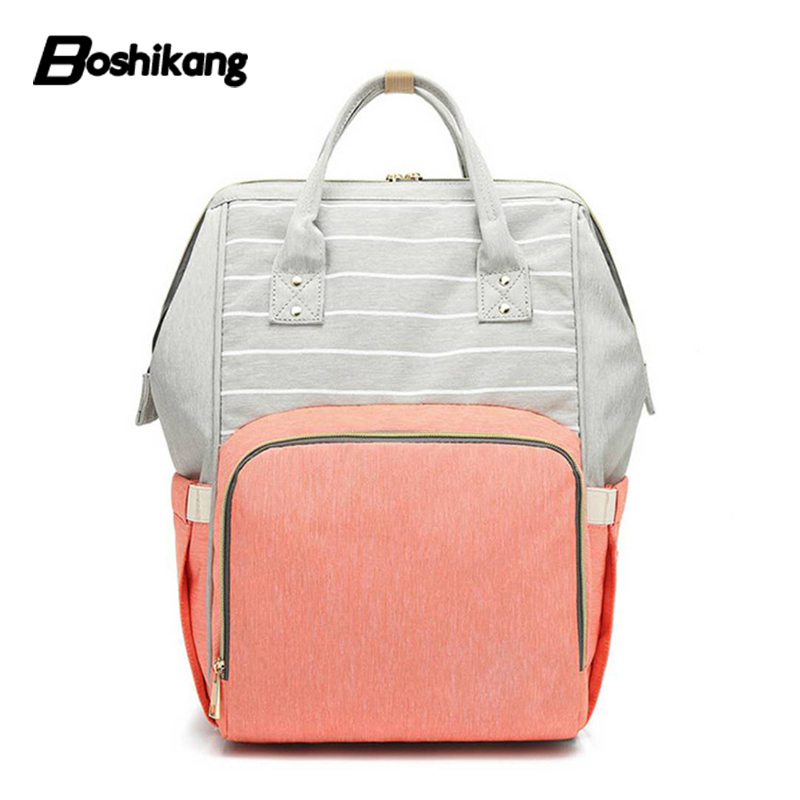 Boshikang Maternity Nappy Bag All-match Baby Bag Leisure Designer Nursing A Bag Mother Baby Diaper Bag Fashion Mummy Backpack
