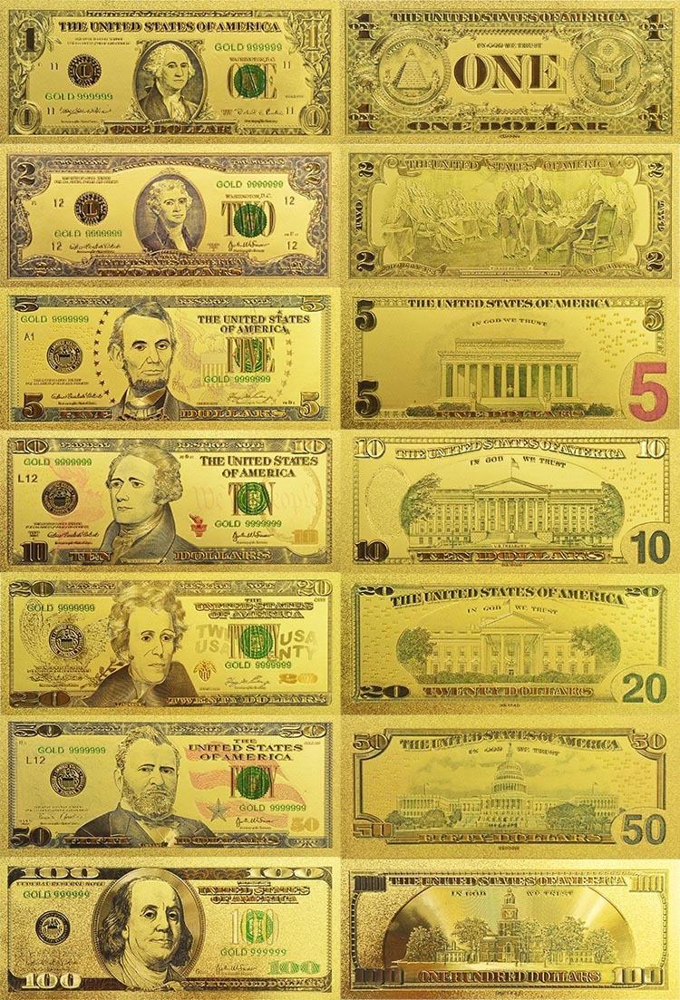 COMES IN RIGID PVC BILL HOLDER 24 KARAT 99.9/% GOLD U.S.A $ 50 DOLLAR BILL-