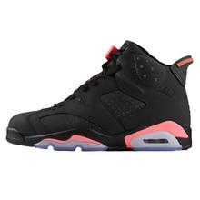d79920d561acef jordan Retro basketball shoes 6 Men Black Infared Outdoor sport shoes