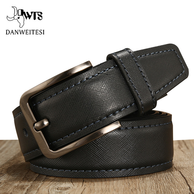 7a6dcbd2ae55 [DWTS]cowhide genuine leather belts for men brand Strap male pin buckle  vintage jeans belt high quality mens belt