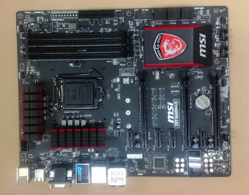 MSI original motherboard Z97 GAMING 5 LGA 1150 DDR3 HDMI VGA DVI USB3.0 32GB Z97 Desktop ...
