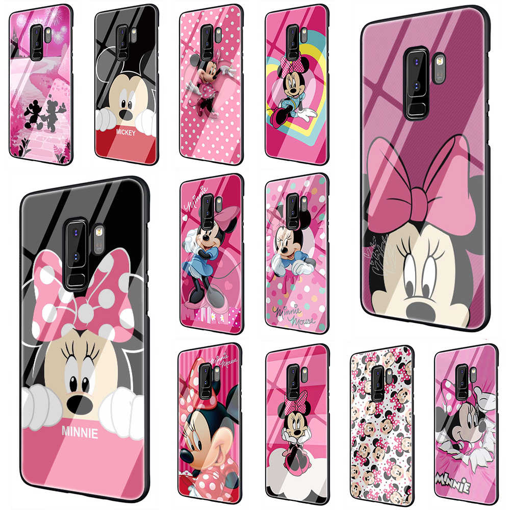Minnie Mouse Anak Perempuan Lucu Anti Gores Phone Cover Case untuk Samsung Galaxy S7 Edge S8 Note 8 9 10 Plus a10 20 30 40 50 60 70
