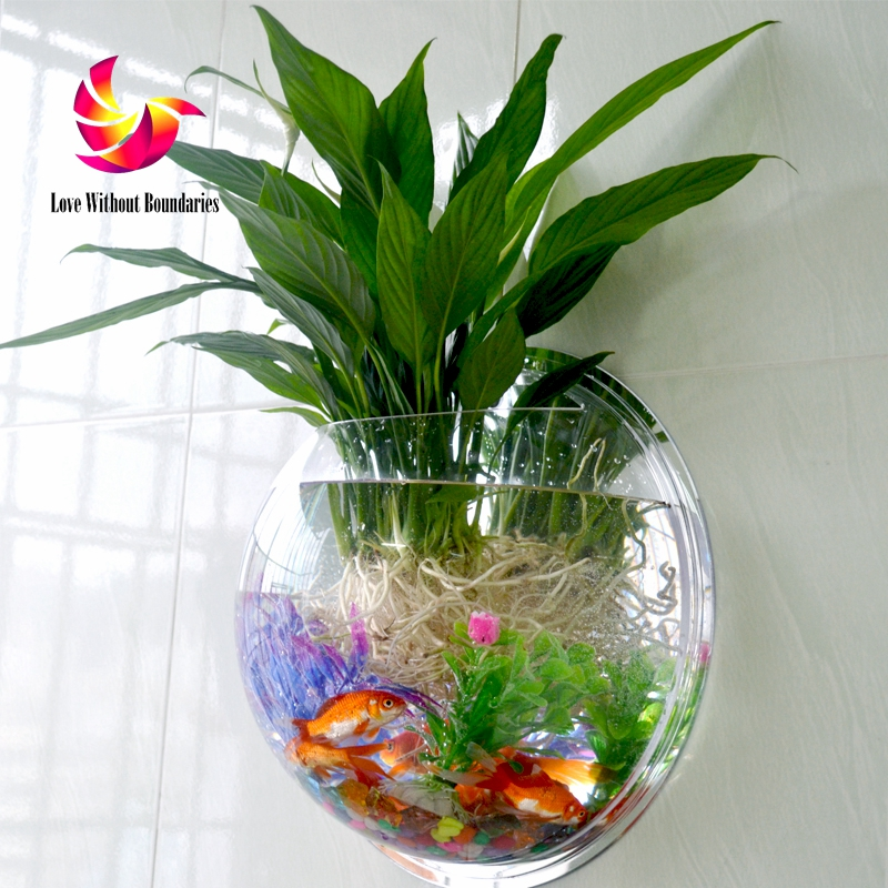 High Quality Vase Fish Tank Wall