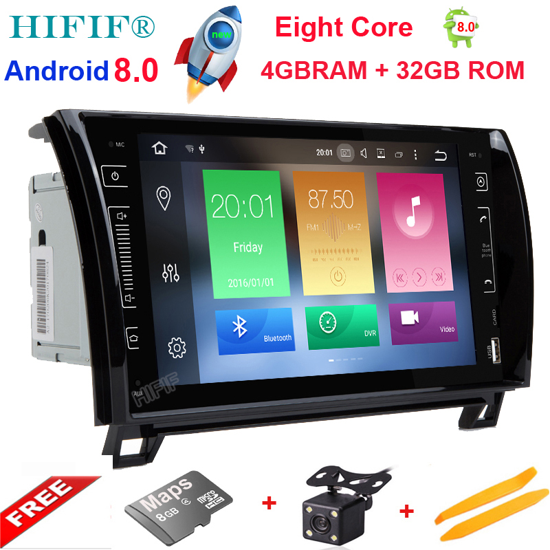 HIFIF Otto Core Android 8.0 Autoradio GPS Navigation Central Multimedia per Toyota Sequoia Tundra 2007 2008 2009 2010 2011 2012