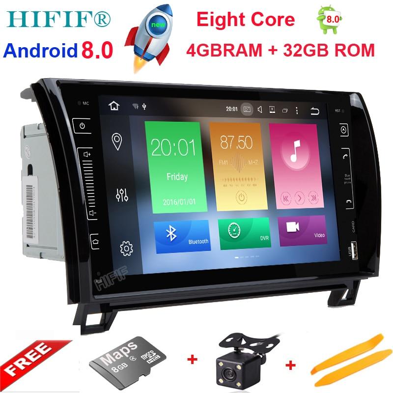 IPS Huit Core Android 8.0 Autoradio GPS Navigation Centrale Multimédia pour Toyota Sequoia Tundra 2007 2008 2009 2010 2011 2012