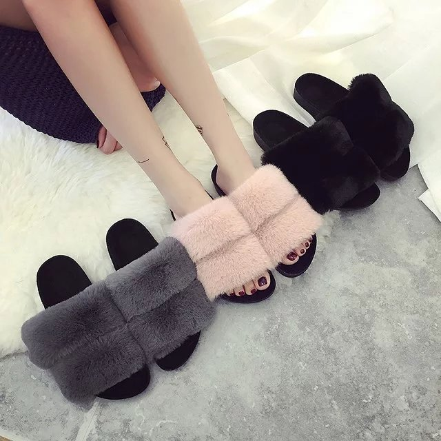 35 40 size Winter thickening Plush warm and comfortable indoor Women slippers