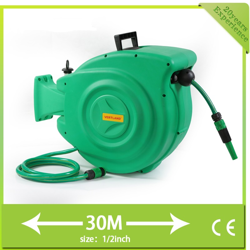 Automatic Retractable Roll Tube Hanging Water Drum Washing Machine Garden  Water Pipe Convenient Garden Watering Hose